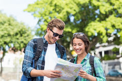 Young couple looking at map Royalty Free Stock Photo