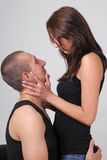 Young couple looking to each other Royalty Free Stock Photo
