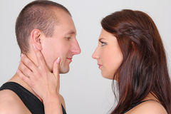 Young couple looking to each other Royalty Free Stock Image
