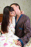 Young couple in love. Young couple sharing a passionate moment together Stock Photos