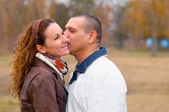 Young couple in love Royalty Free Stock Image