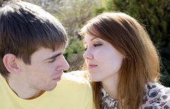 A young couple in love Royalty Free Stock Image