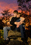 Young couple in love Stock Images