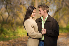 Young couple in love. Meeting in the autumn park Stock Image