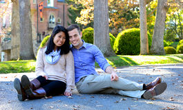 Young couple in love in an autumn setting Stock Photo
