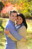 Young couple in love in an autumn setting Stock Image