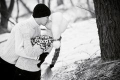 Young couple in love (B/W) Royalty Free Stock Photos