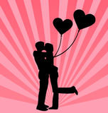 Young couple in love background Royalty Free Stock Photos