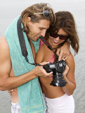 Young couple in love at the beach Royalty Free Stock Images