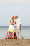 Young couple in love at the beach Stock Photo