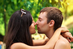 Young Couple in love. Young beautiful amorous couple Royalty Free Stock Images