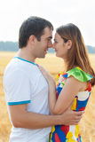 Young couple in love cuddling Royalty Free Stock Photo