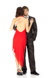 Young couple in love in an evening dress Royalty Free Stock Images