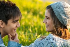 Young couple with in love face expression. Stock Photo