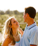 Young couple in love and having fun Royalty Free Stock Photo