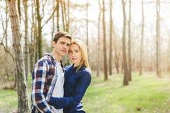 Young couple in love having fun and enjoying Stock Photos