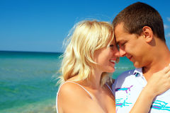 Young couple in love on honeymoon Royalty Free Stock Images