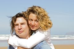 Young couple in love hugging eachother Royalty Free Stock Photography