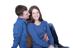 Young couple in love isolated Royalty Free Stock Images