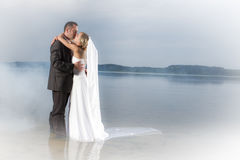 Young couple In love on a lake Stock Image