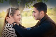 Young couple in love looking in each other's eyes Stock Photo