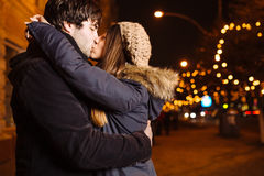 Young couple. In love outdoor Stock Photo