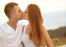 Young couple in love outdoor Stock Photography