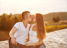 Young couple in love outdoor Stock Image