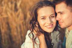 Young couple in love outdoor.Couple hugging.Сlose-up. Young couple in love outdoor.Stunning sensual outdoor portrait of young stylish fashion couple posing in Stock Photos