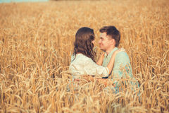 Young couple in love outdoor.Couple hugging. Young couple in love outdoor.Stunning sensual outdoor portrait of young stylish fashion couple posing in summer in Royalty Free Stock Photography