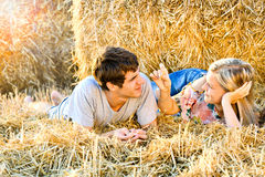 Young couple in love outdoor. Stock Photos