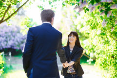 Young couple in love outdoor Royalty Free Stock Photo