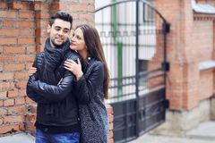 Young couple in love - outdoor portrait Stock Image