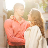 Young couple in love outdoor. Stock Images