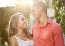 Young couple in love outdoor. Stock Image