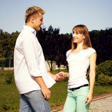 Young couple in love outdoor Royalty Free Stock Photography
