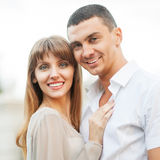 Young couple in love outdoor Royalty Free Stock Photos
