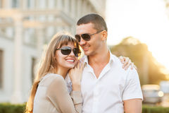 Young couple in love outdoor Royalty Free Stock Image