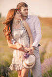 Young couple in love outdoor. Stock Photography