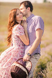Young couple in love outdoor. Stock Photo