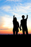 Young couple in love outdoor. Royalty Free Stock Image