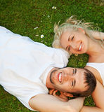 Young couple in love outdoors Royalty Free Stock Photography