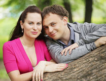 young couple in love - Outdoors royalty free stock photography