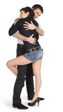 Young couple in love over white Stock Image