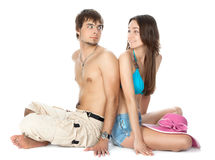 Young couple in love playing Stock Photo