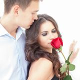 Young couple in love. Portrait of a young romantic couple in love Royalty Free Stock Photos