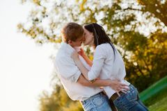 Young couple in love Royalty Free Stock Images
