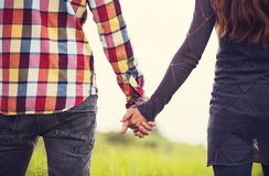 Young Couple in Love. Romantic Young Couple in Love Outdoors Royalty Free Stock Images