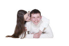 Young couple in love smiling Royalty Free Stock Images