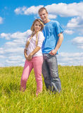 Young couple in love in summer park Stock Photo
